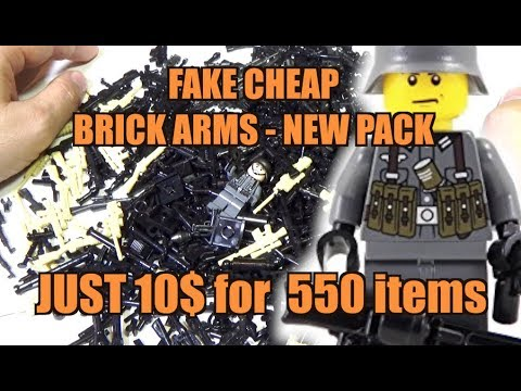 NEW SET OF A HUGE AMOUNT OF FAKE BRICKARMS VERY CHEAP!!! Lego Weapons Modern Warfare