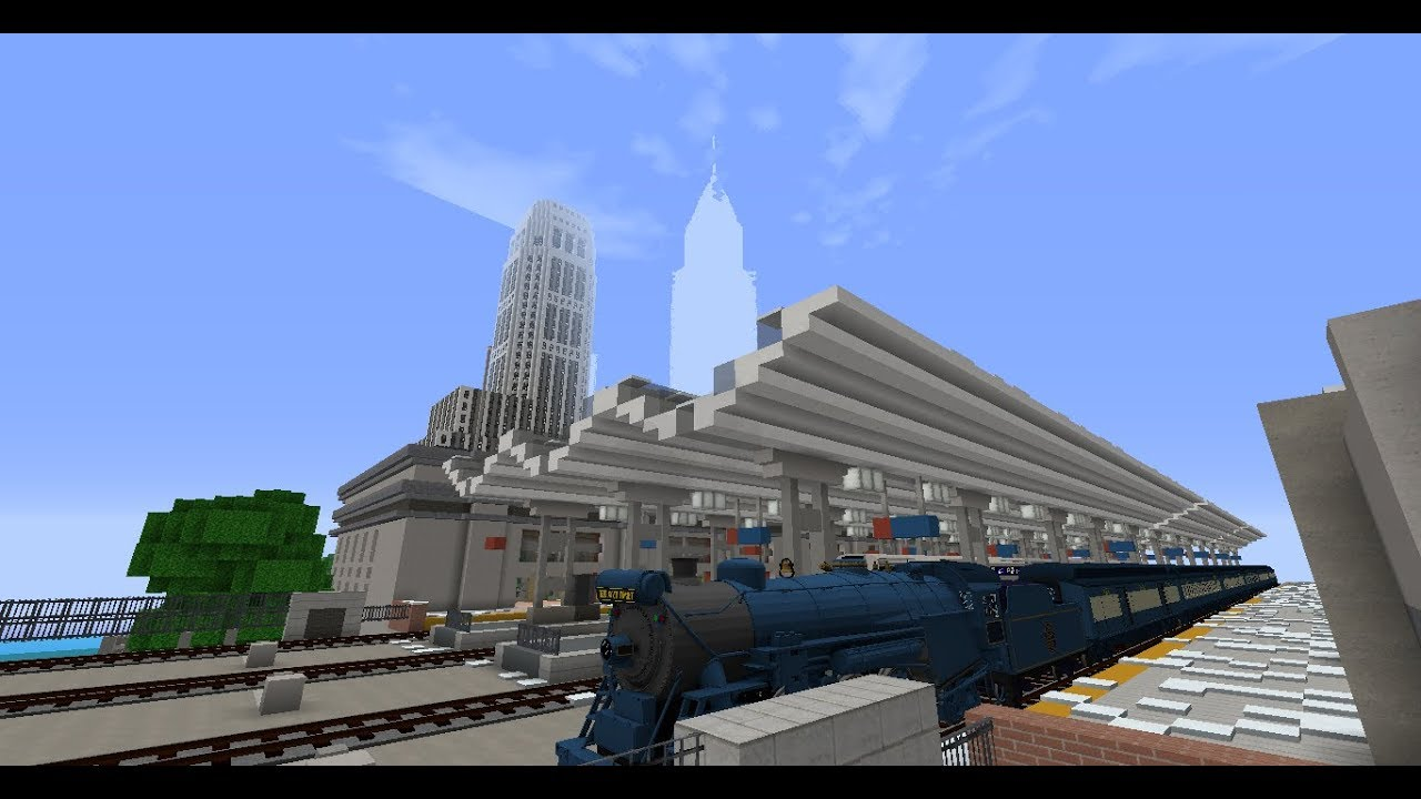 Minecraft Immersive Railroading | Blue Comet express run
