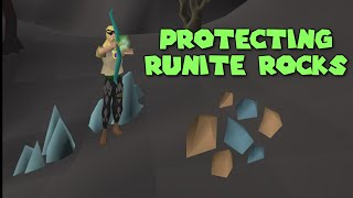 Protecting Runite Rocks For 1 Hour (Bank Made)