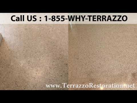 How to Grind and Polish Terrazzo Floor in Palm Beach?