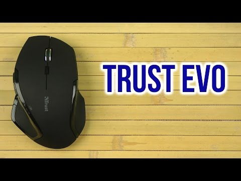 Распаковка Trust Evo Wireless Optical Mouse Black 21241