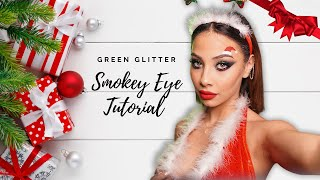 TUTORIAL MAKEUP de CRACIUN // Glittery Smokey Eye