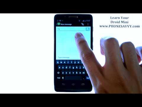 Motorola Droid Mini - How Do I Send a Text Message