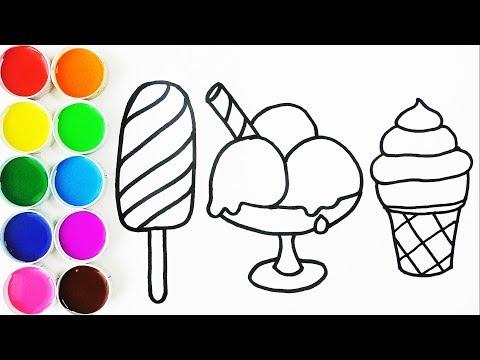 Cómo Dibujar y Pintar Helados de Arco Iris - Dibujos Para Niños ...
