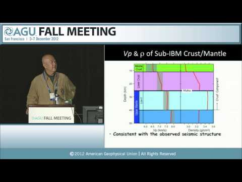 Bowen Lecture: V22A. The Andesite Problem: Why is this Planet to be the Earth? 2012 AGU Fall Meeting