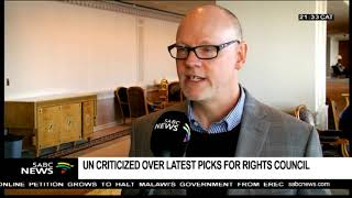 UN criticized over latest picks for Human Rights Council