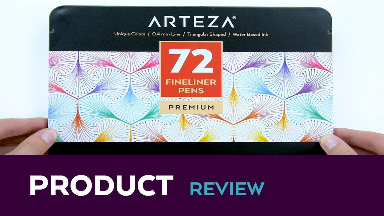 Arteza Fineliner Pens (Set of 72) - YouTube