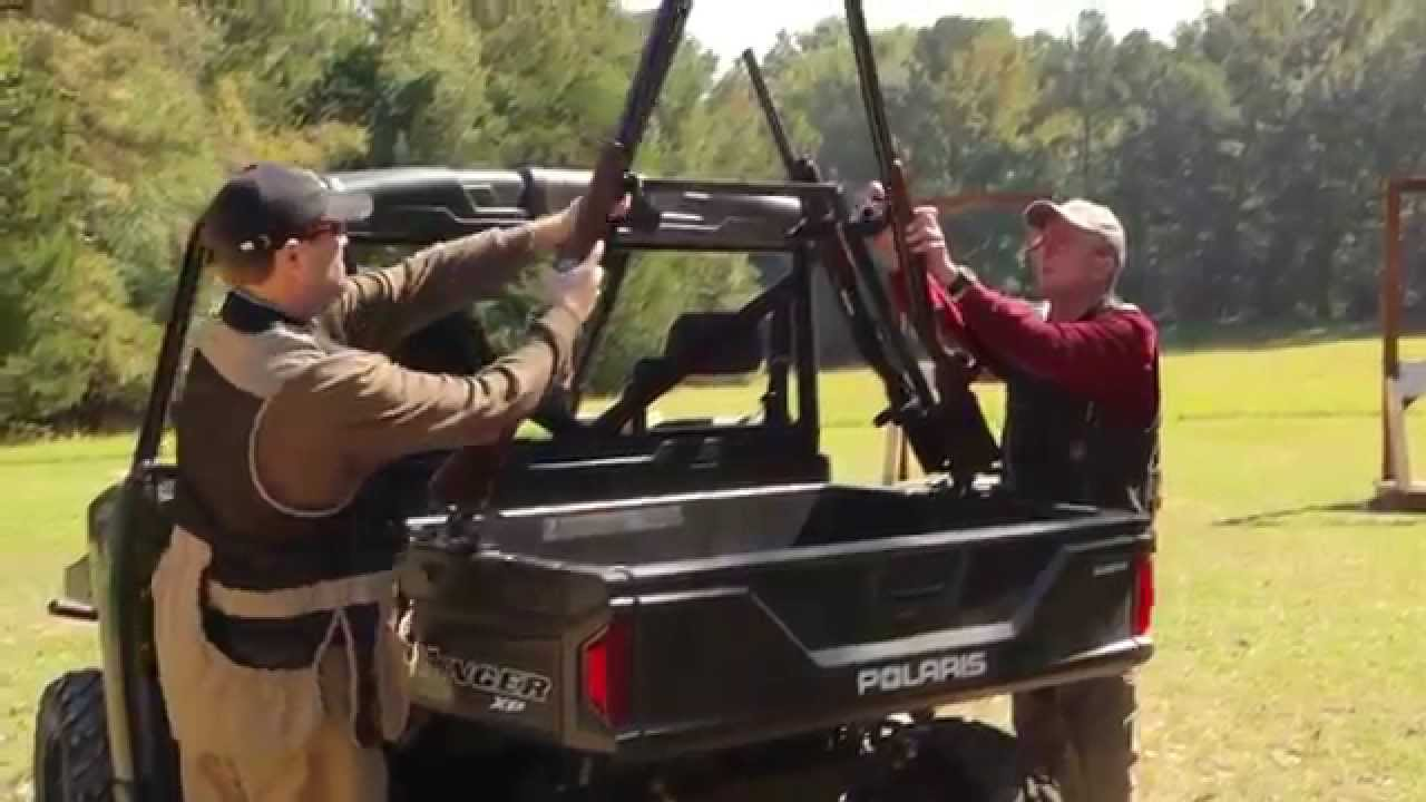 Great day sporting clays utv gun rack tuckerrocky for How to build a side by side