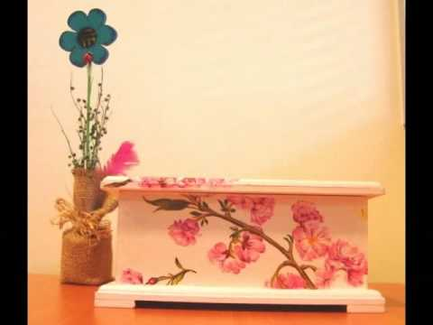 decoupage en madera - youtube - Decoupage En Muebles Tutorial