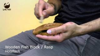 Wooden Fish Block/Rasp - Percussion for Children