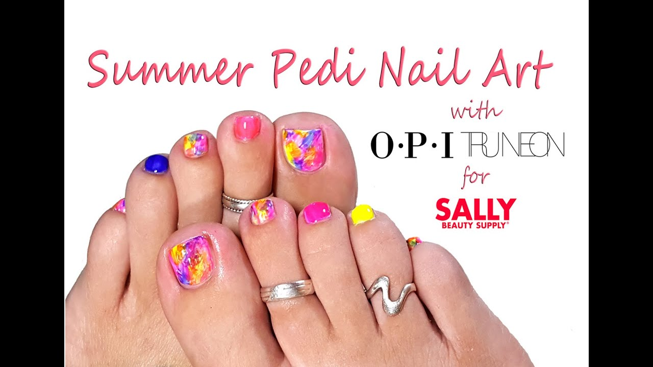 Perfect Summer Pedi Easy Toe Nail Art Tutorial With Sally Beauty