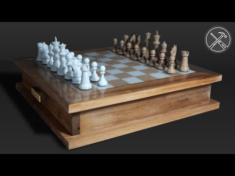 Making An Upcycled, 3D Printed Chess Set With Storage