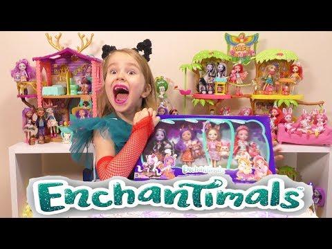 #Мультик Куклы Энчантималс Кафе #Enchantimals Домик Данессы Оленни Волшебные подружки #Junglewood