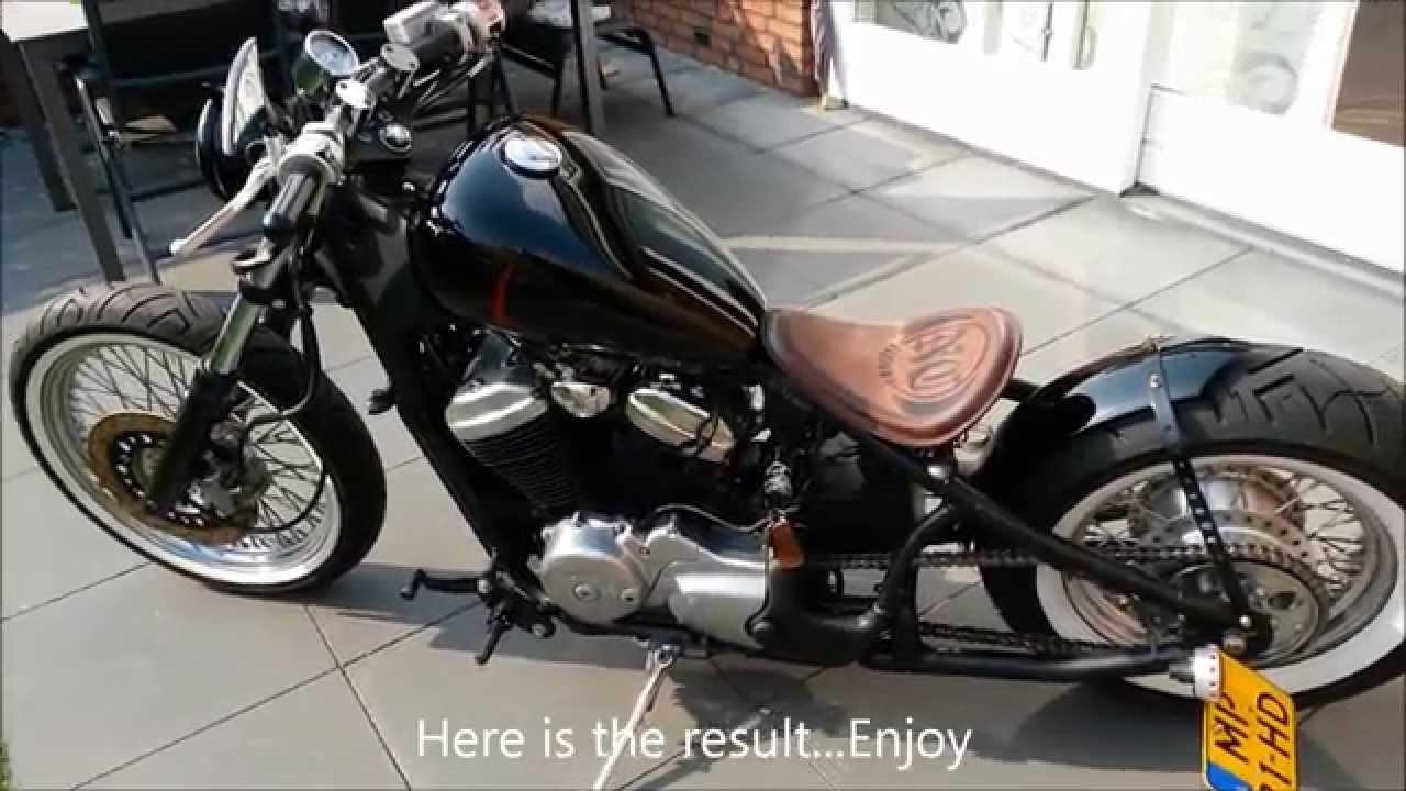 Honda Shadow VT 600 C Bobber - Custom Blinkers - YouTube
