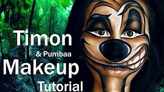 TIMON (& Pumbaa) Makeup Tutorial by MARGO