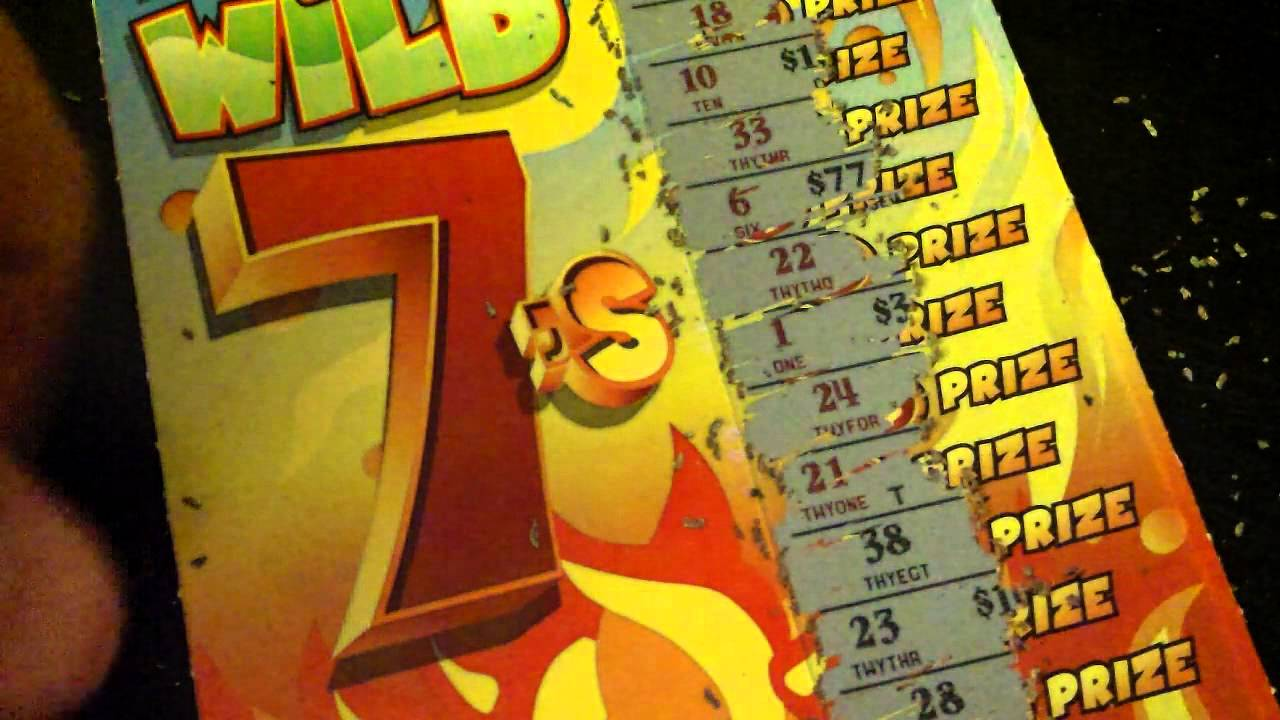sizzling sevens scratch ticket