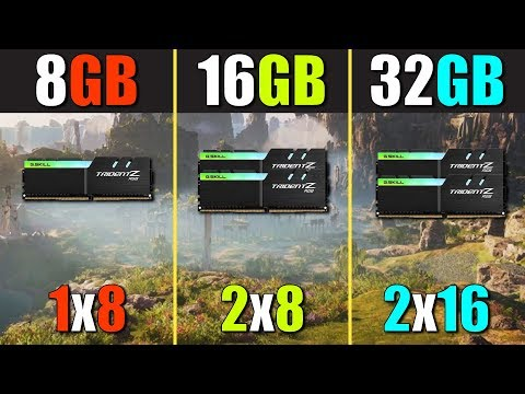 8GB RAM Vs. 16GB RAM Vs. 32GB RAM