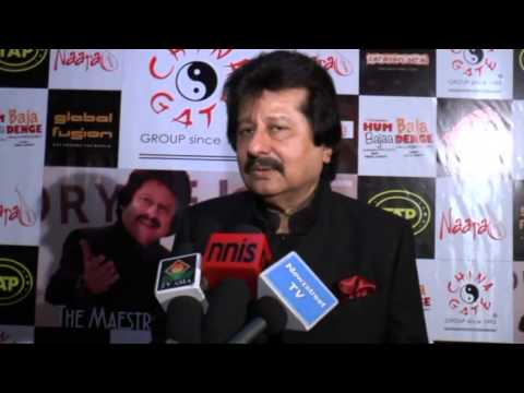 Pankaj Udhas interview at the music launch of the song Zindagi