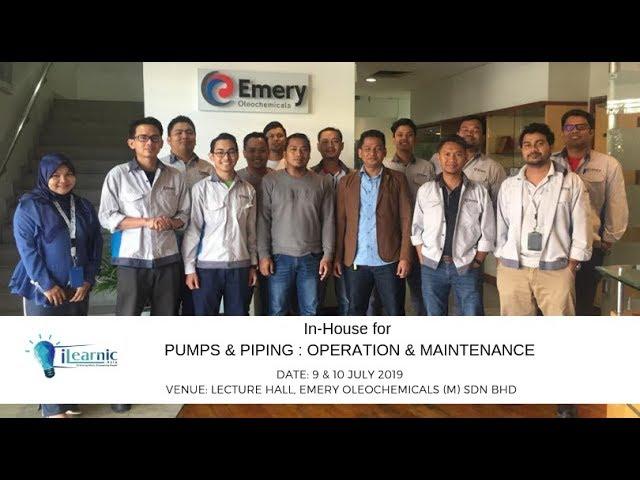 2019 July | Testimonial | Pumps & Piping : Operation & Maintenance