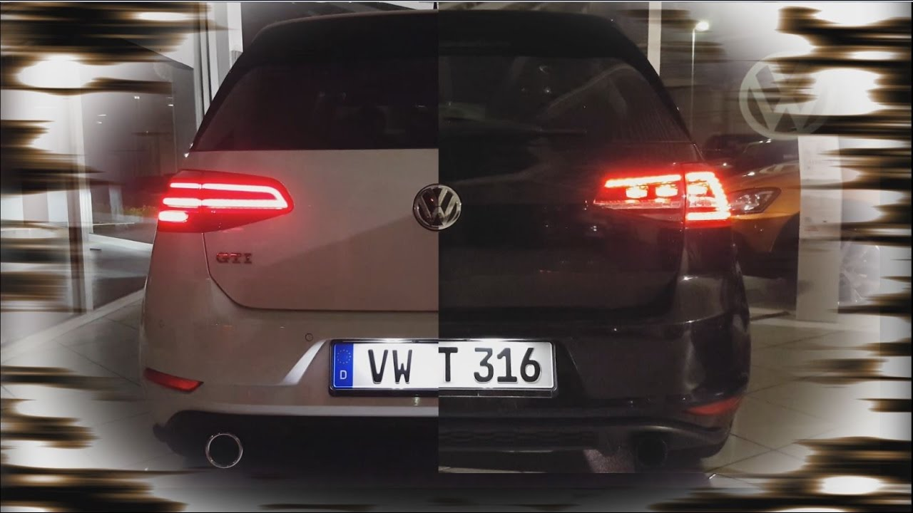 vw golf 7 gti alt vs neu update facelift animiert led. Black Bedroom Furniture Sets. Home Design Ideas