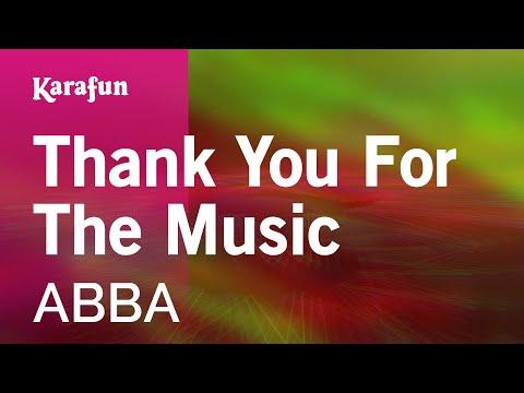 Karaoke Thank You For The Music - ABBA *