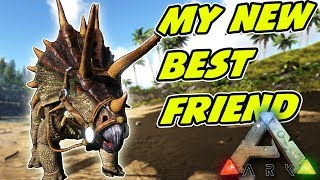 My first Pet Dinosaur!! - Alfred the Triceratops - Ark Survival Evolved - EP2