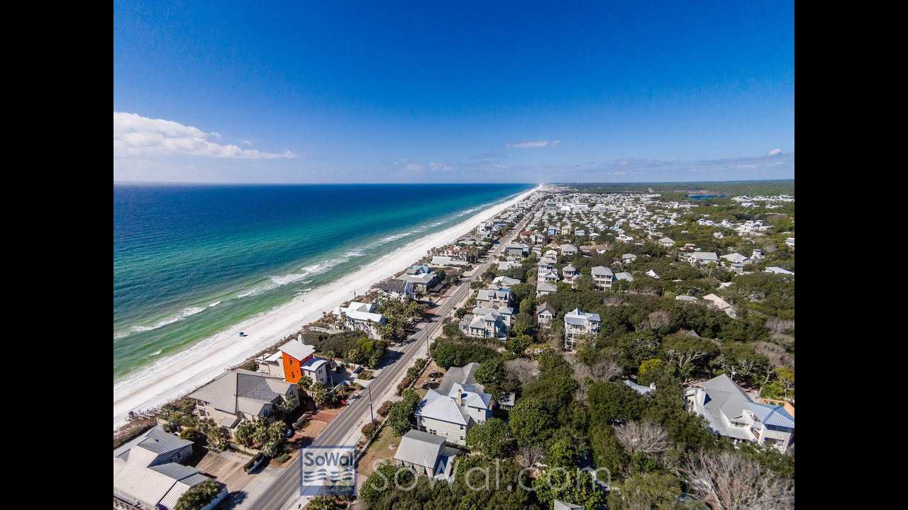 Attractive Seagrove Beach Florida 5BR Gulf View Vacation Rental Home, 60 Live Oak  Street   YouTube