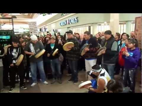IDLE NO MORE SASKATOON AT 8TH St. Mall