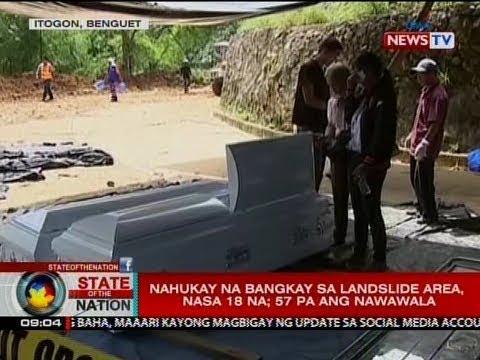 SONA: Nahukay na bangkay sa landslide area sa Itogon, Benguet, nasa 18 na; 57 pa ang nawawala