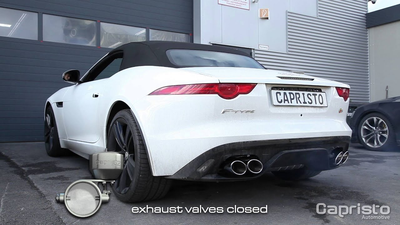 jaguar f type v8 s compressor capristo exhaust youtube. Black Bedroom Furniture Sets. Home Design Ideas