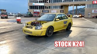 The Fastest Hondaru Has Ever Gone With a Stock K24!