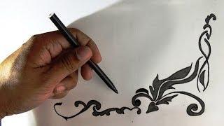How To Draw Creative Art Border.