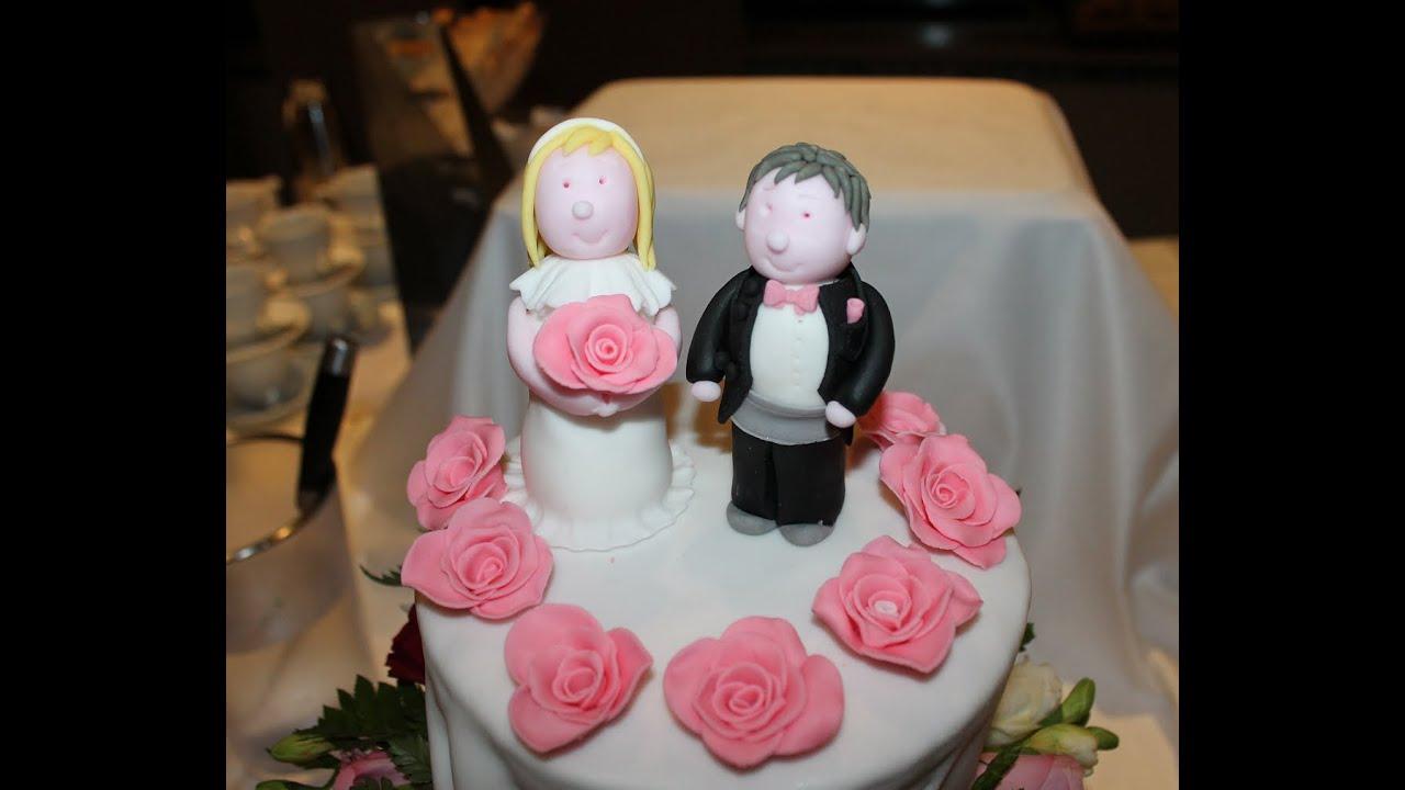 Hochzeitstorte  Hochzeitsfiguren aus Fondant  YouTube