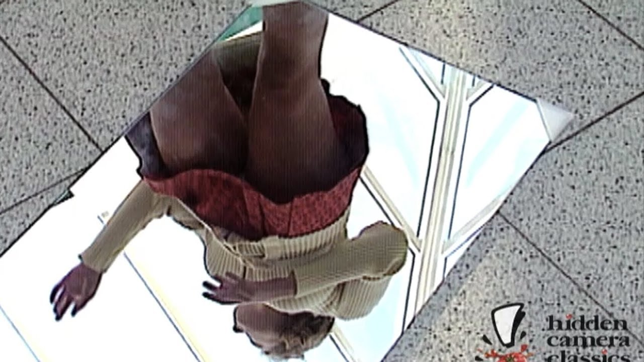 Glass floor upskirt