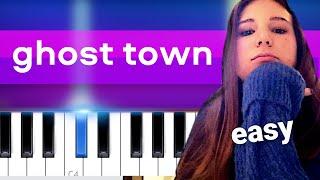 Chloe George - ghost town (voice memo) EASY PIANO TUTORIAL