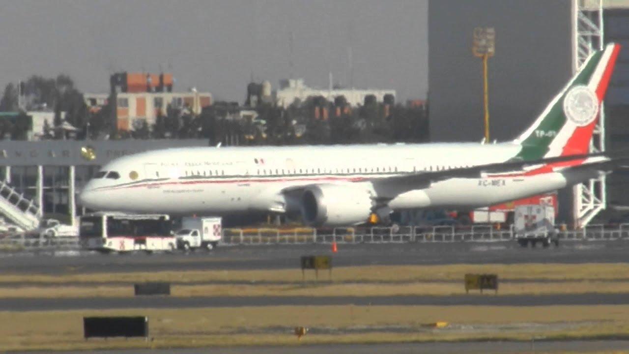 Avión Presidencial De México Boeing 787 Youtube
