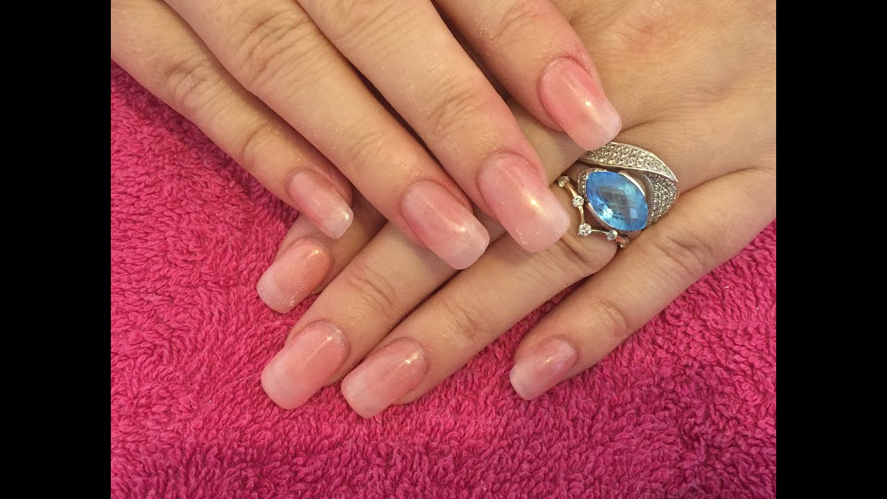Acrylic Nails How To Natural Look Youtube
