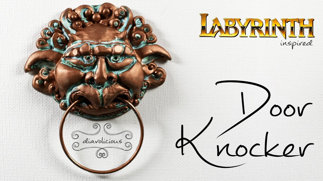 The Door Knocker (right one) - Labyrinth inspired polymer clay TUTORIAL - YouTube  sc 1 st  YouTube & The Door Knocker (right one) - Labyrinth inspired polymer clay ...