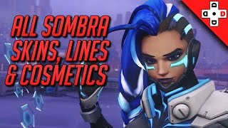 Overwatch Sombra Skins, Highlight Intros, Emotes, and Sprays