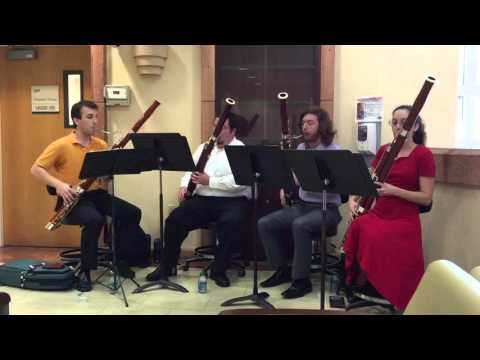 Quartet from the frost school of music at Sylvester comprehensive cancer center University of Miami