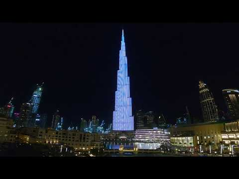 The Phantom of the Opera Lights up the Burj Khalifa