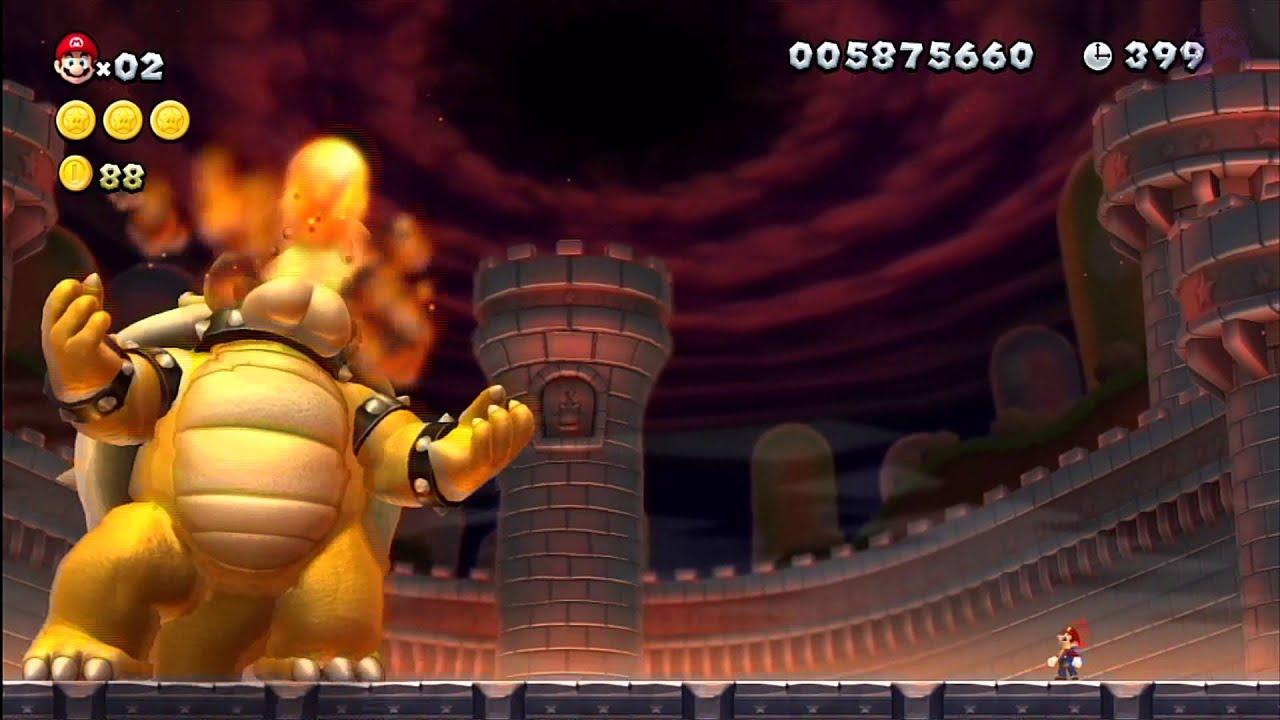 Peach S Castle The Final Battle New Super Mario Bros Wii U