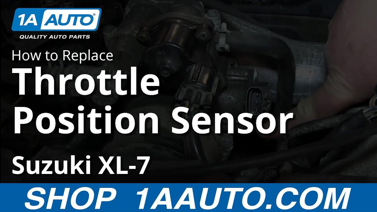 How To Replace Throttle Position Sensor 9806 Suzuki XL7  YouTube