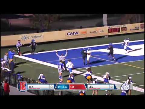 Lakeland Christian 5 yd td pass from Christian Alexander to Taylor Morton