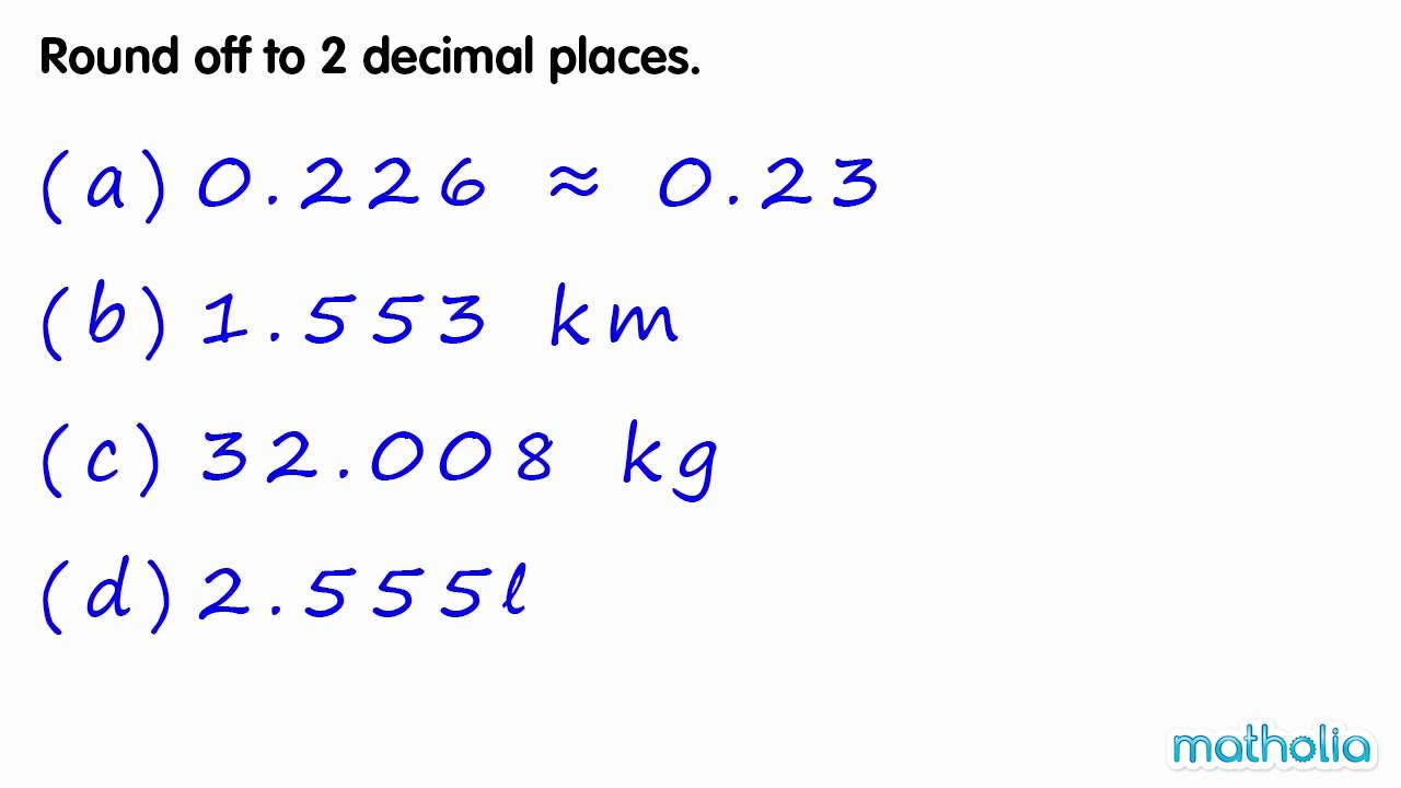 Rounding to 2 Decimal Places YouTube – Rounding to Decimal Places Worksheet