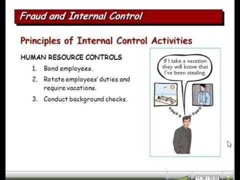 Fraud, internal controls and cash