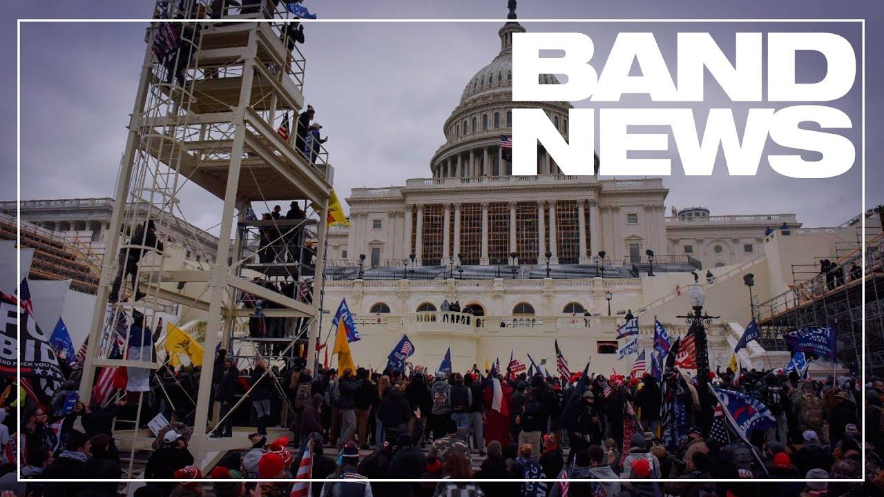 Apoiadores de Donald Trump protestam e tentam invadir prédio do Capitólio