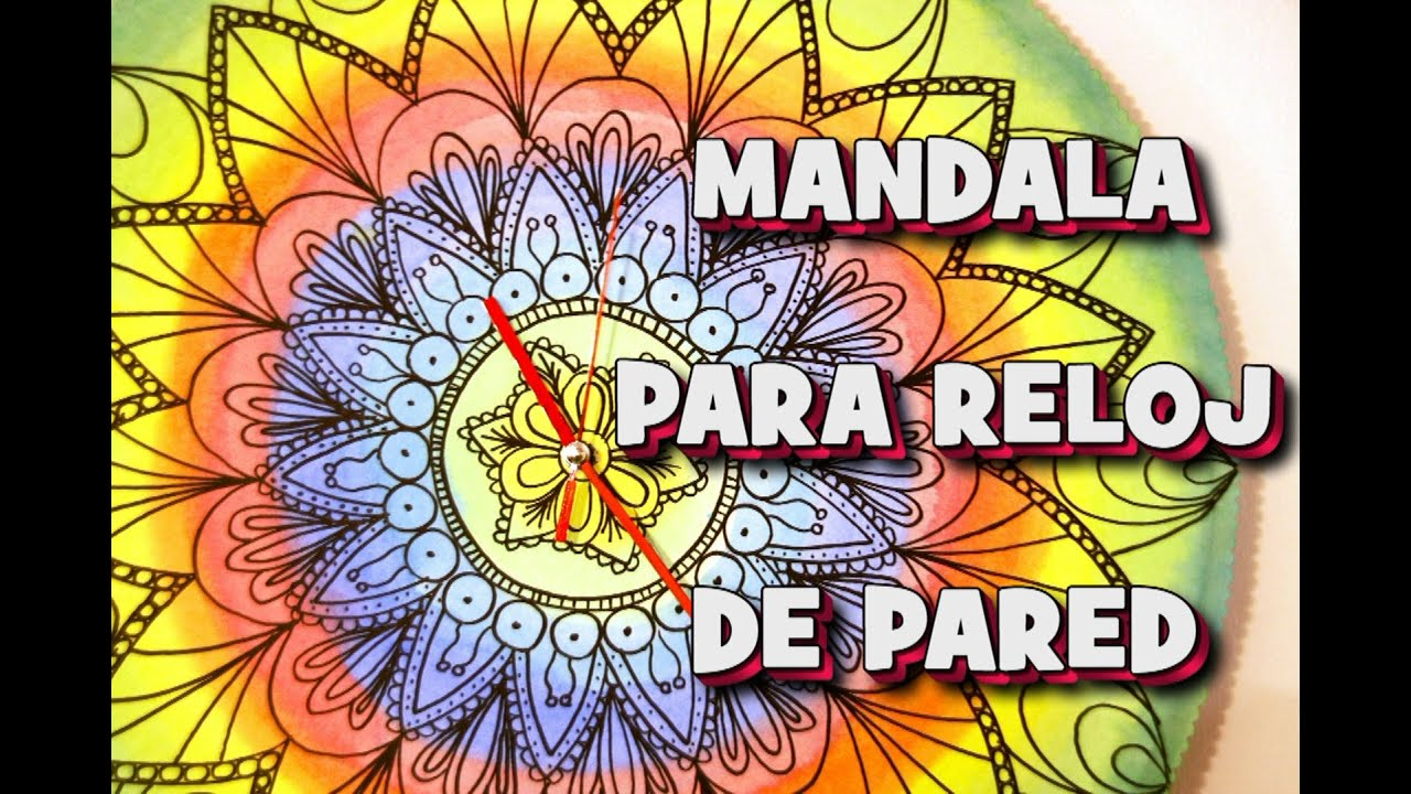 Como hacer mandala para reloj de pared youtube - Reloj decorativo de pared ...