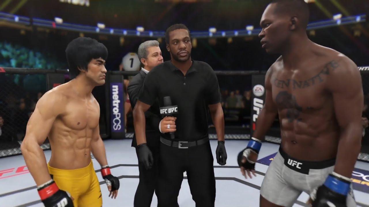 Bruce Lee vs. Israel Adesanya (EA Sports UFC 3) - Epic Battle ? ? - Dragon Fights ?