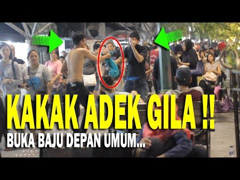 NGAKAK PARAH !! BUKA BAJU DI DEPAN UMUM - ADEK KAKAK MANJA TerLEBAY - Part 2 Ft JAMIL HANAFI - PRANK